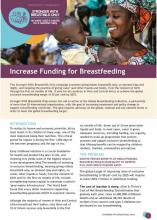 Increase Funding for Breastfeeding