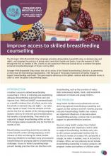 Improve access to skilled breastfeeding counselling